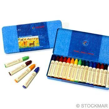 STOCKMAR Voskové pastelky - 16 barev v plechové krabičce