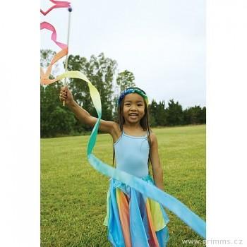 SARAH'S SILK Gymnastická duhová stužka s hůlkou
