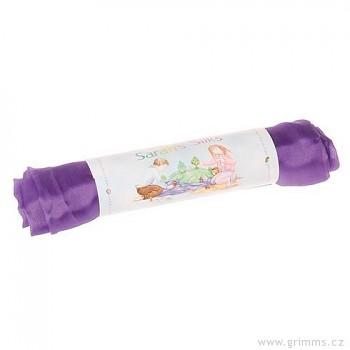 Velké hedvábí pro děti - fialová