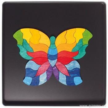 GRIMM´S Mini magnetické puzzle – motýlek, 37 dílů