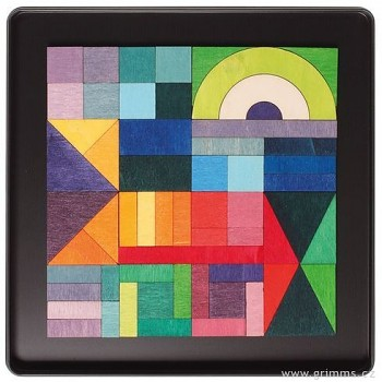 GRIMM´S Mini magnetické puzzle grafické geometrické tvary