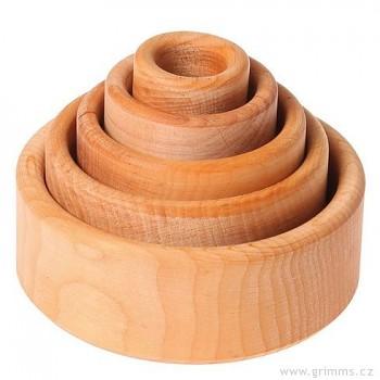 GRIMM´S Sada dřevěné misky - různé barvy