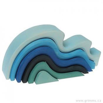 GRIMM´S Stavební kostky malé vlny, 6 dílů