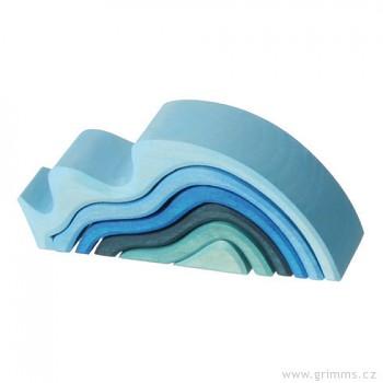 GRIMM´S Stavební kostky nejmenší vlnky, 6 dílů
