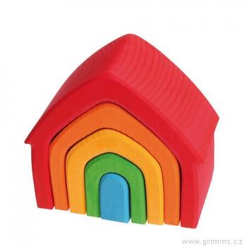 GRIMM´S Stavební kostky barevný domeček