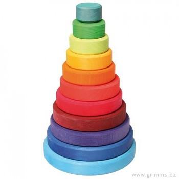GRIMM´S Dřevěná skládací pyramida velká
