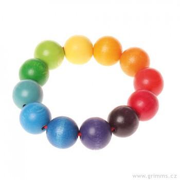 GRIMM´S Korálkový kroužek – hračka pro miminka