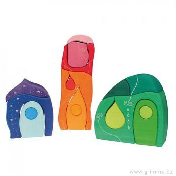 GRIMM´S Fantazijní stavební kostky – Grimmova pohádková vesnička, 17 dílů