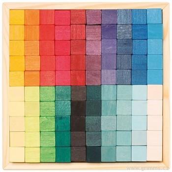 GRIMM´S Stavební kostky mozaika čtverec malé, 100 dílů