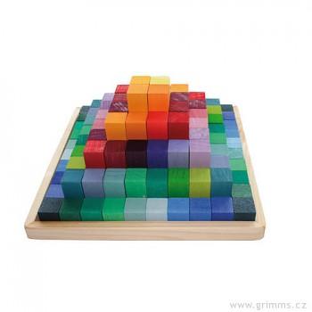 GRIMM´S Stavebnice poschoďová pyramida malá, 100 dílů