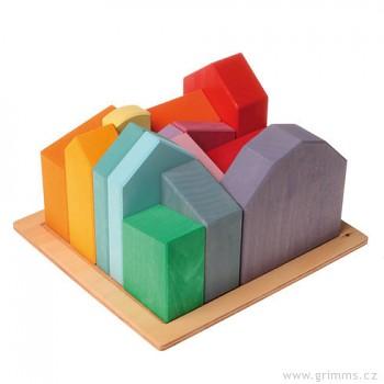GRIMM´S Velké domečky – stavebnice ze dřeva, 14 dílů