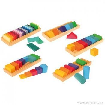 GRIMM´S Stavebnice tvary a barvy 1, 70 dílů