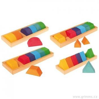 GRIMM´S Stavebnice tvary a barvy 2, 42 dílů