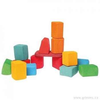 GRIMM´S Waldorfské kostky – 15 velkých barevných bloků