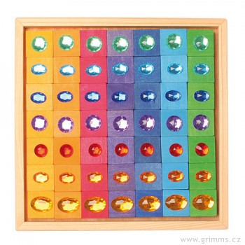 GRIMM´S Logická hra pro děti – Eulerovy čtverce s drahokamy, 49 dílů