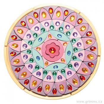 GRIMM´S Třpytivá mandala barevná velká, 74 dílů