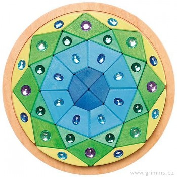 GRIMM´S Třpytivá mandala modrá zelená, 36 dílů