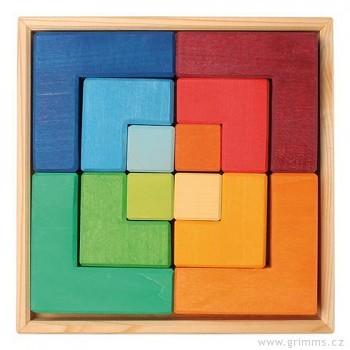 GRIMM´S Dřevěné puzzle čtverec, 12 dílů