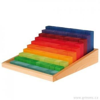 GRIMM´S Stavebnice stupňovité kostky na počítání malé, 100 dílů