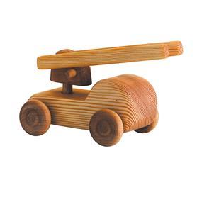 Auto dřevěné malé - hasičský vůz