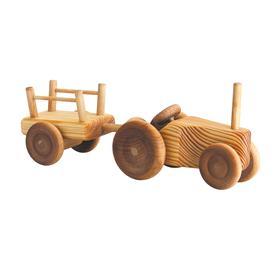 Auto dřevěné malé - traktor s valníkem