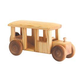 Auto dřevěné velké - autobus
