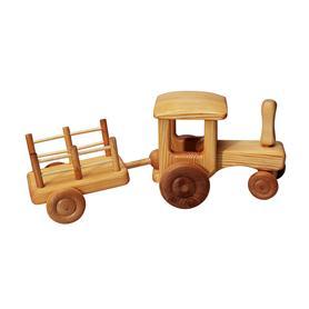 Auto dřevěné velké - traktor s valníkem