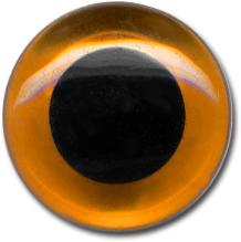 MEYCO Skleněné oko - našívací - hnědé - 6 mm