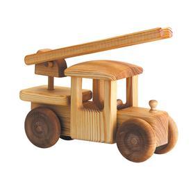 Auto dřevěné velké - hasičský vůz