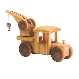 Auto dřevěné velké - nákladní jeřáb