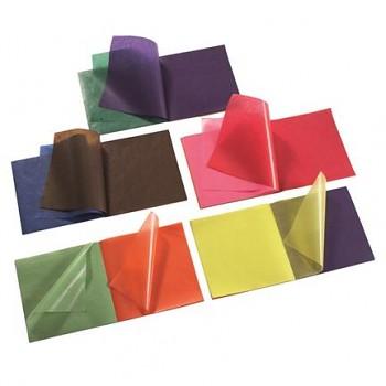 Transparentní voskovaný papír 16 x 16 cm - 11 barev - 100 listů