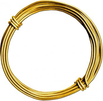 MEYCO Hliníkový drát - 2 mm x 3 metry - zlatý