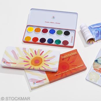 STOCKMAR Sada 12 opakních barev - anglická jazyková verze