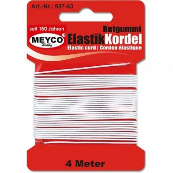 MEYCO Bílá elastická šňůra (gumička)
