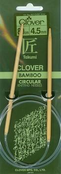 CLOVER Kruhové pletací jehlice Takumi - 80 cm / 4,5 mm