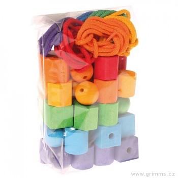GRIMM´S Barevné korálky geometrické tvary, 54 díly