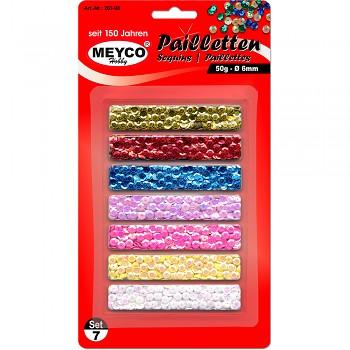 MEYCO Metalické pajetky - sada 7 barev