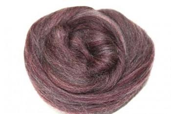 Ovčí vlna barvená česaná 10g - jemná - 105 melír fialový