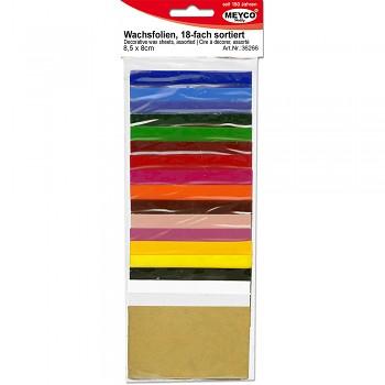 MEYCO Dekorační vosk 18 barev 8,5 x 5 cm
