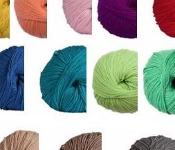 Vlněná merino příze na vlasy panenek - různé barvy
