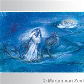 Obrázek Marjan van Zeyl - Josef a Marie na cestě do Betléma
