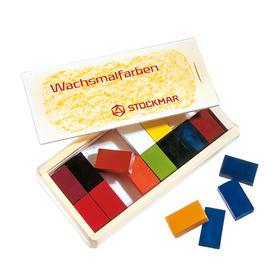 STOCKMAR Voskové bločky - 16 barev ve dřevěné krabičce