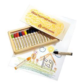 STOCKMAR Voskové pastelky - 16 barev ve dřevěné krabičce