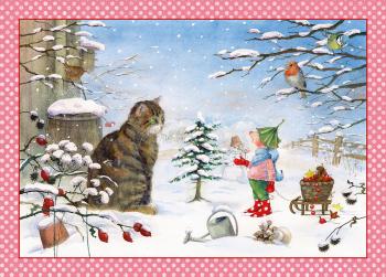 Adventní kalendář - Skřítek a kočička