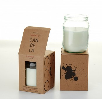 Munio Candela Villa collection - Zavařovací sklenice 350 ml  - Černá magie