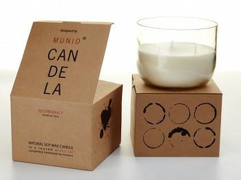 Munio Candela Villa collection - Velká zavařovací sklenice 900ml  - Zelený list