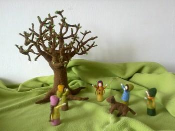 """Workshop """"Listnatý strom"""" z ovčího rouna"""