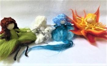 """Workshop """"Elementy - Oheň, Voda, Země, Vzduch"""" z ovčího rouna"""