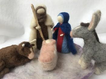 """Workshop """"Betlém"""" z ovčího rouna"""