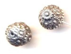 BC Akrylový korálek kulatý - pokov starostříbro - 10 mm
